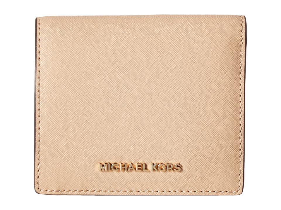 MICHAEL Michael Kors - Jet Set Travel Carryall Card Case (Oyster) Credit card Wallet