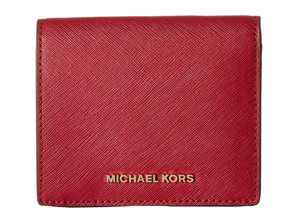 MICHAEL Michael Kors - Jet Set Travel Carryall Card Case (Cherry) Credit card Wallet