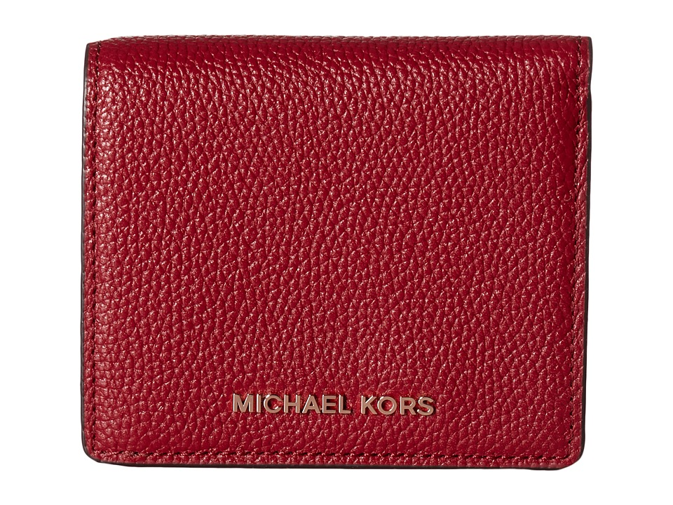 MICHAEL Michael Kors - Mercer Carryall Card Case (Cherry) Credit card Wallet