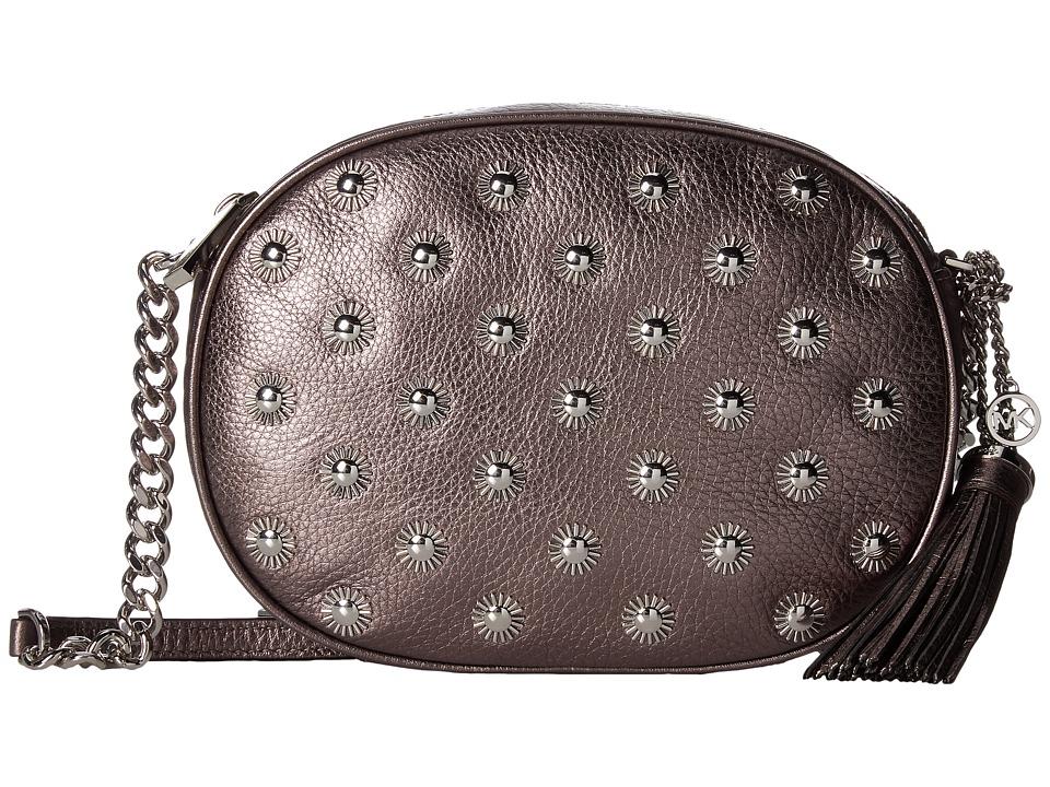 MICHAEL Michael Kors - Ginny Studded Medium Messenger (Cinder) Messenger Bags