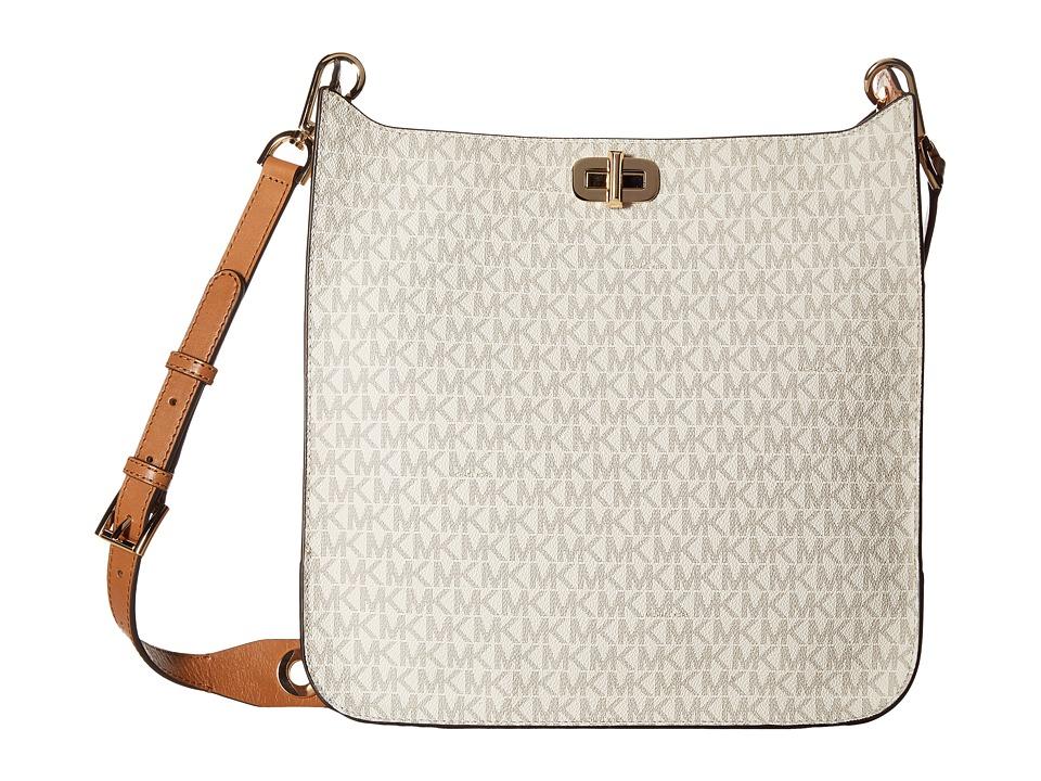 MICHAEL Michael Kors - Sullivan Large North/South Messenger (Vanilla) Messenger Bags