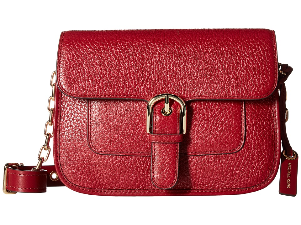 MICHAEL Michael Kors - Cooper Medium Messenger (Cherry) Messenger Bags