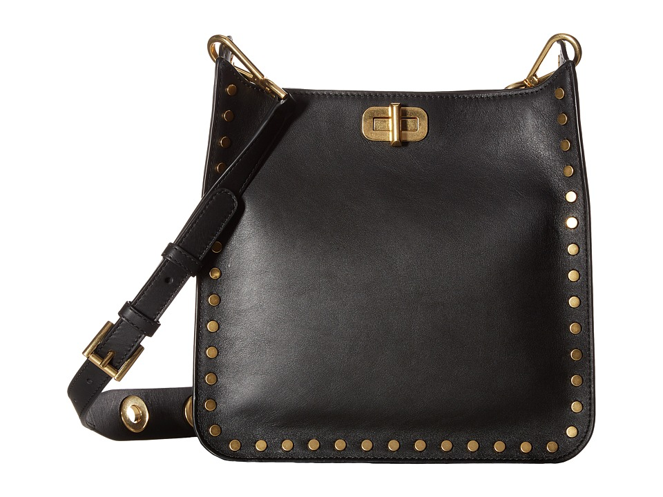 MICHAEL Michael Kors - Jenkins Stud Sullivan Medium North/South Messenger (Black) Messenger Bags