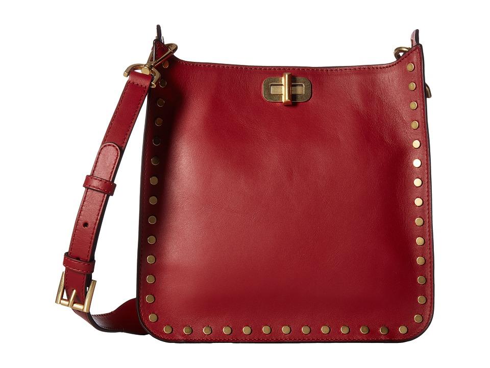 MICHAEL Michael Kors - Jenkins Stud Sullivan Medium North/South Messenger (Cherry) Messenger Bags
