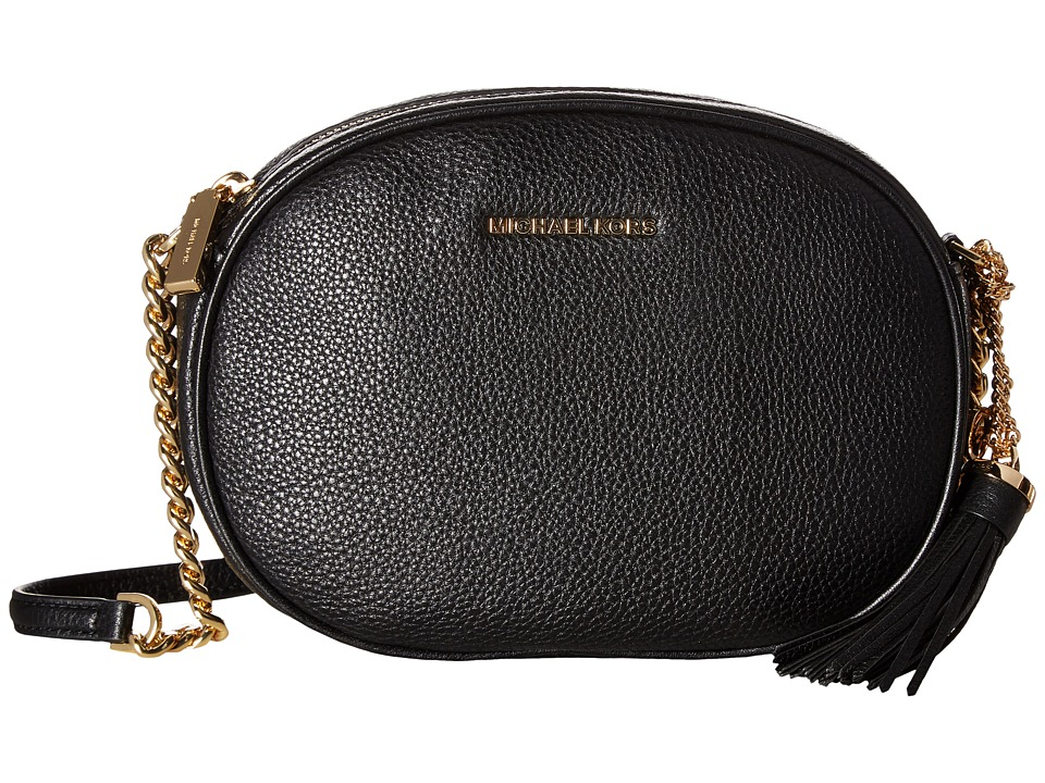 MICHAEL Michael Kors - Ginny Medium Messenger (Black) Messenger Bags