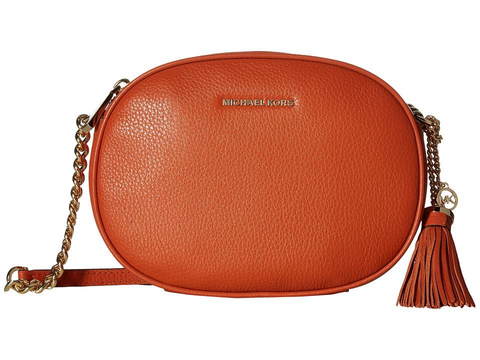 MICHAEL Michael Kors - Ginny Medium Messenger (Orange) Messenger Bags