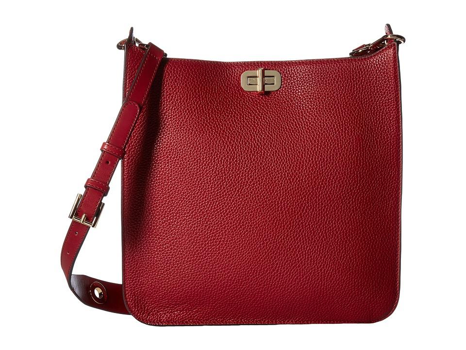 MICHAEL Michael Kors - Sullivan Large North/South Messenger (Cherry) Messenger Bags