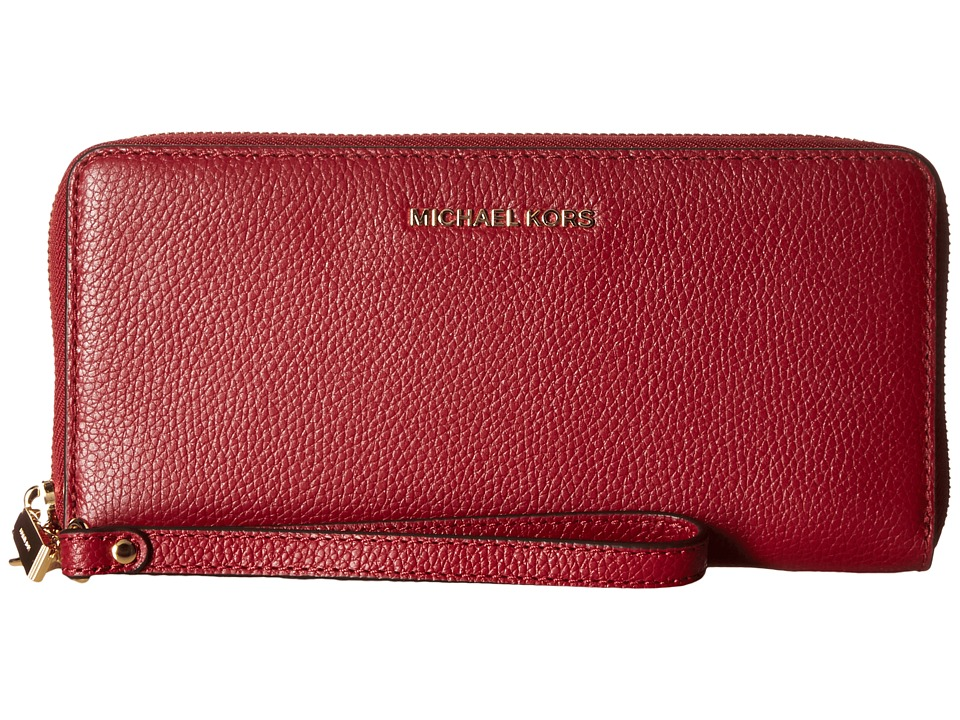 MICHAEL Michael Kors - Mercer Travel Continental (Cherry) Travel Pouch