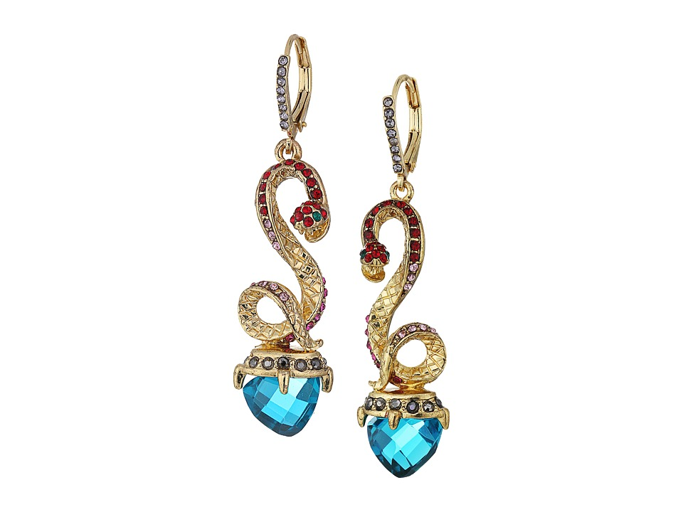 Betsey Johnson - Multi Snake Linear Earrings (Multi) Earring