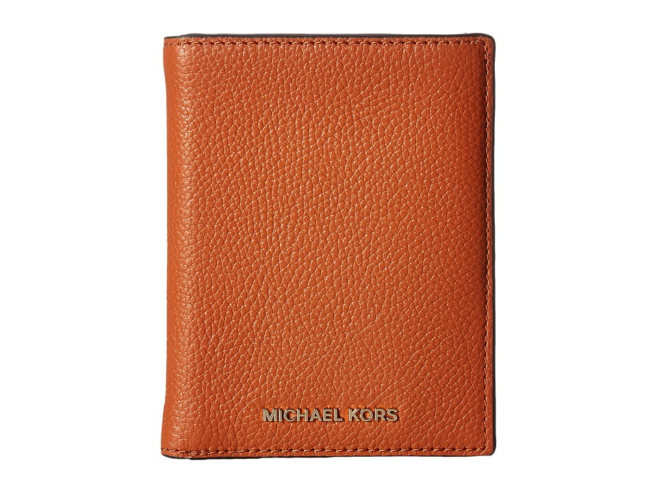 MICHAEL Michael Kors - Mercer Passport Wallet (Orange) Wallet Handbags