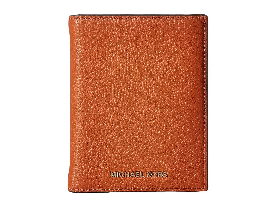 MICHAEL Michael Kors - Mercer Passport Wallet (Orange) Wallet Handbags
