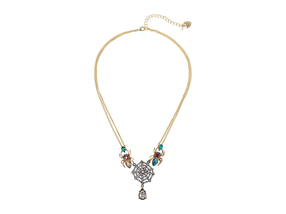 Betsey Johnson - Multi Spider Frontal Necklace (Multi) Necklace