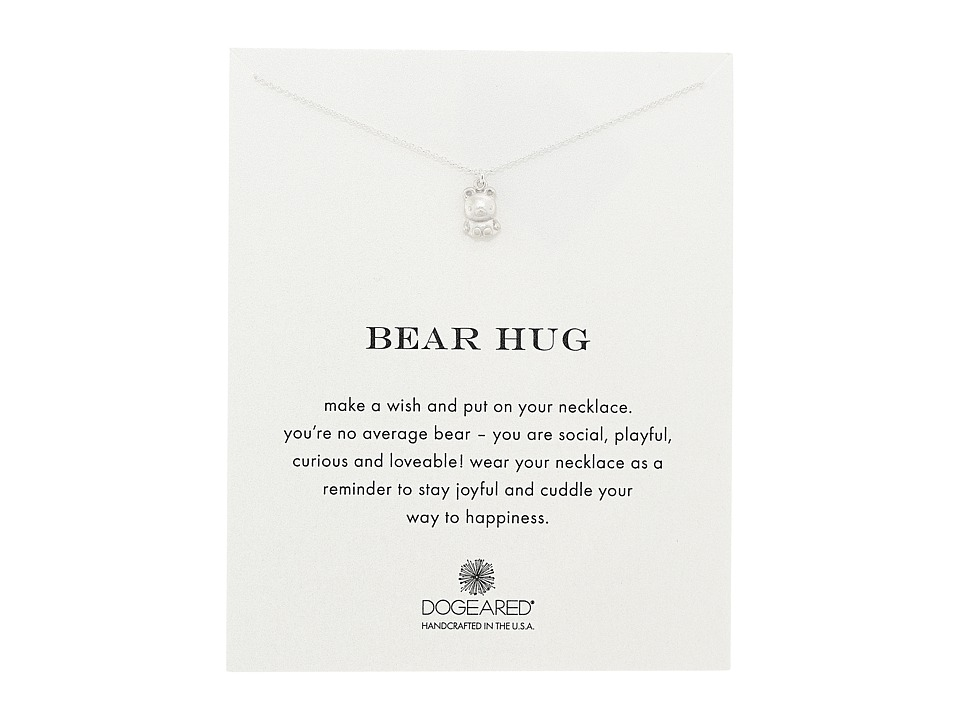 Dogeared - Bear Hug Reminder Necklace (Sterling Silver) Necklace