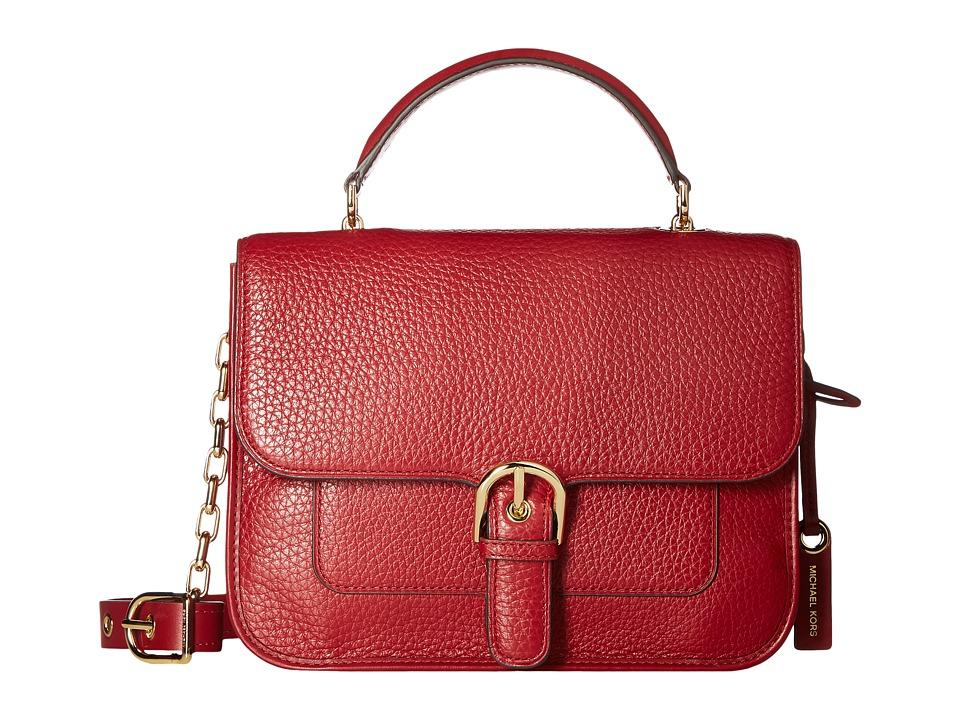 MICHAEL Michael Kors - Cooper Large School Satchel (Cherry) Satchel Handbags