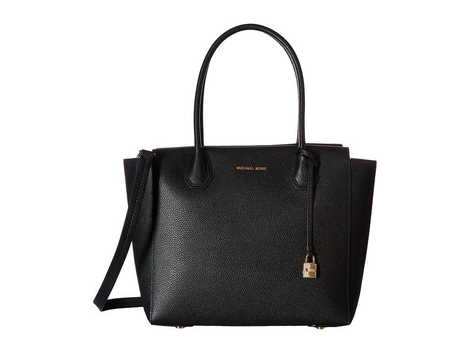 MICHAEL Michael Kors - Mercer Large Satchel (Black) Satchel Handbags