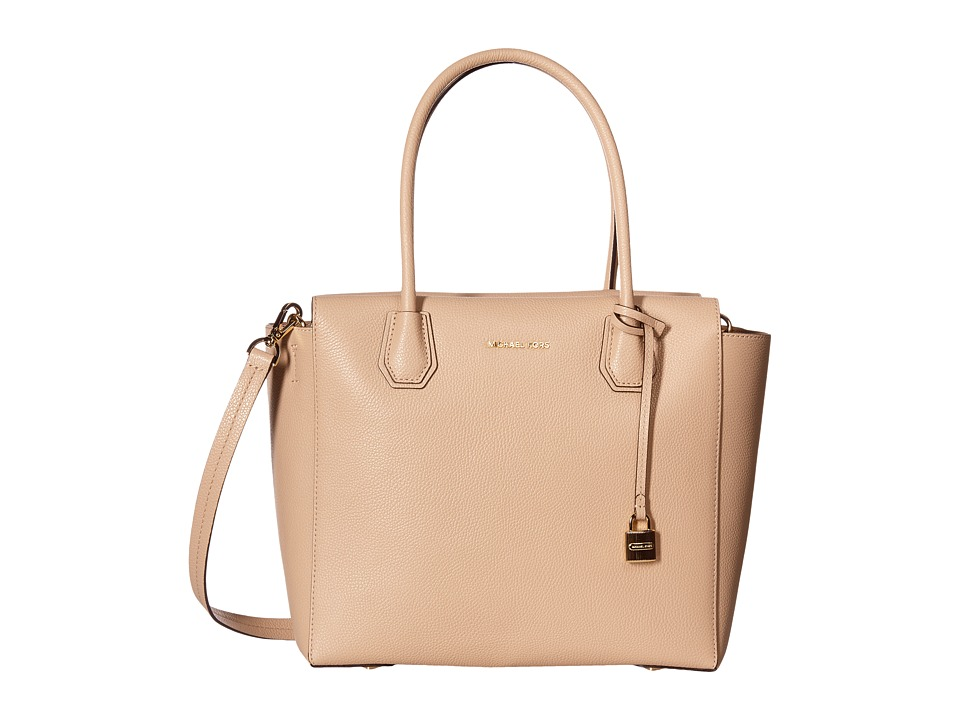 MICHAEL Michael Kors - Mercer Large Satchel (Oyster) Satchel Handbags