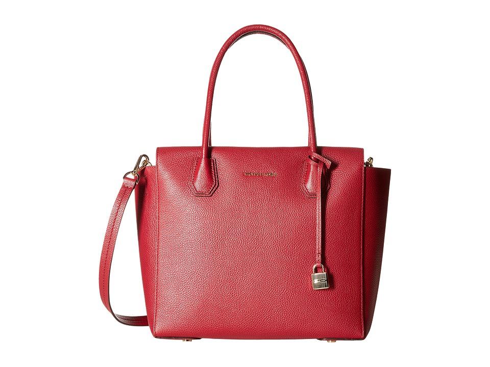 MICHAEL Michael Kors - Mercer Large Satchel (Cherry) Satchel Handbags