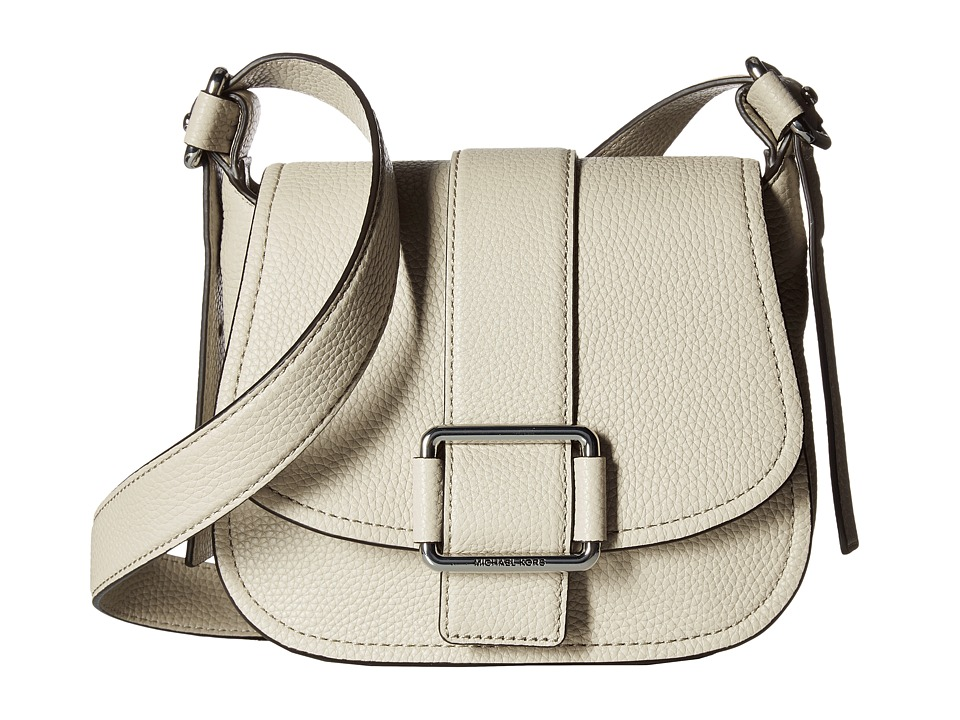 MICHAEL Michael Kors - Maxine Medium Saddle Bag (Cement) Bags