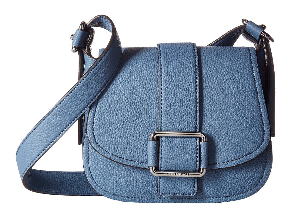 MICHAEL Michael Kors - Maxine Medium Saddle Bag (Denim) Bags