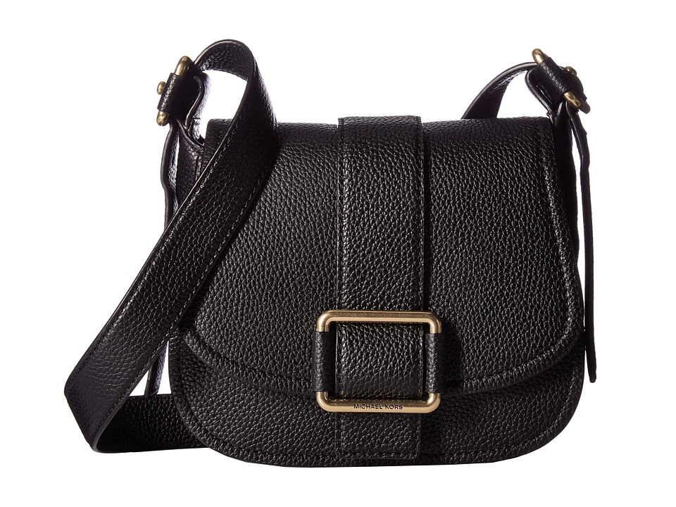 MICHAEL Michael Kors - Maxine Medium Saddle Bag (Black) Bags