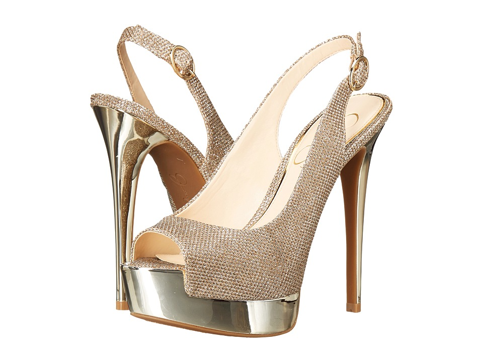 Jessica Simpson - Kabale (Gold Sparkle Mesh) High Heels