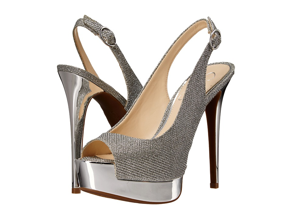 Jessica Simpson - Kabale (Silver Sparkle Mesh) High Heels