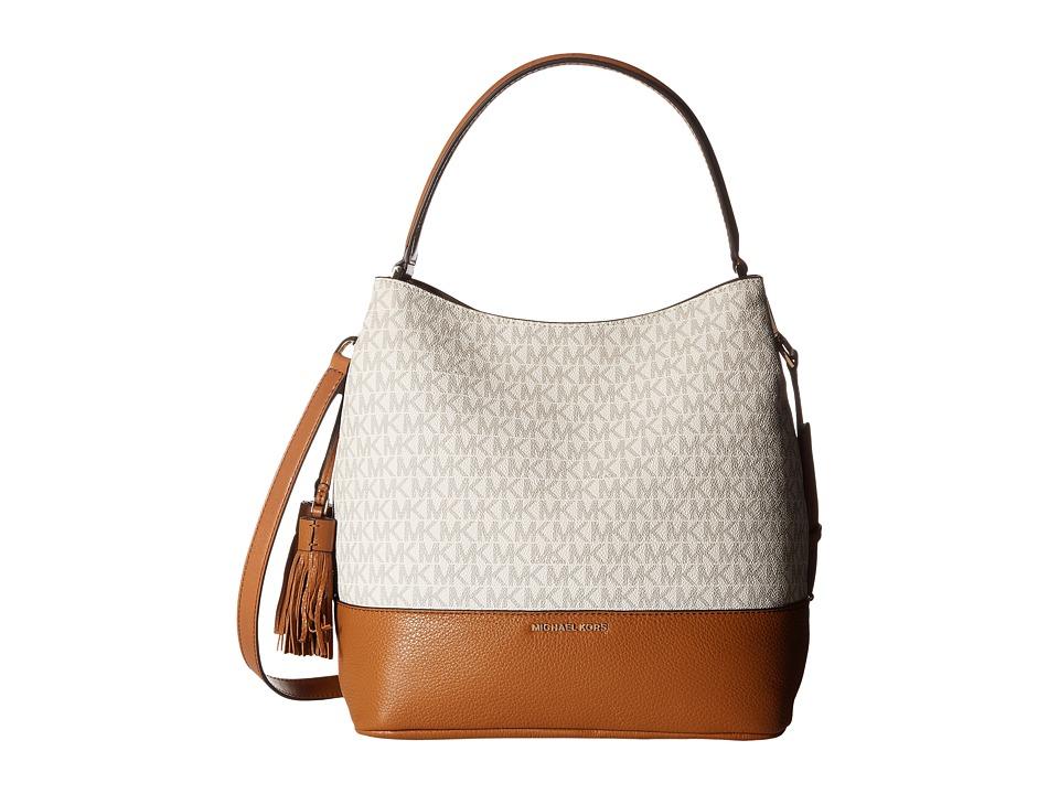 MICHAEL Michael Kors - Kip Large Bucket Bag (Vanilla/Acorn) Bags