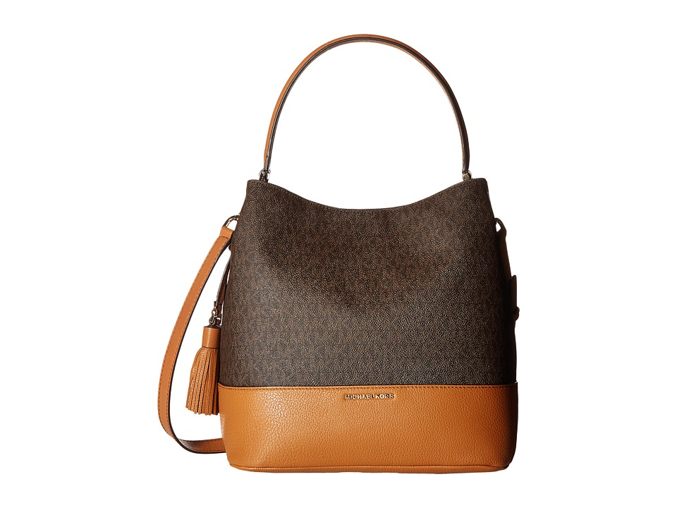 MICHAEL Michael Kors - Kip Large Bucket Bag (Brown/Acorn) Bags