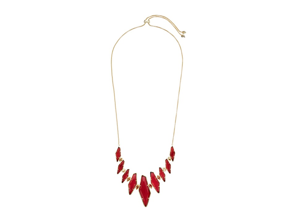 Kendra Scott - Berniece Adjustable Necklace (Gold/Burgundy Illusion) Necklace
