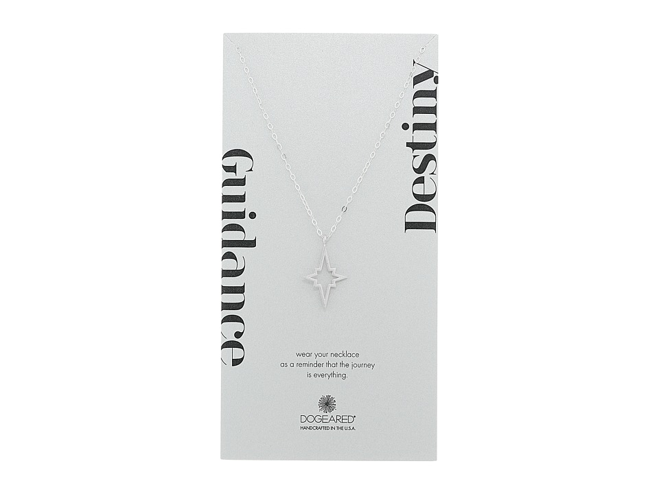 Dogeared - Guidance/Destiny Large North Star Necklace (Sterling Silver) Necklace