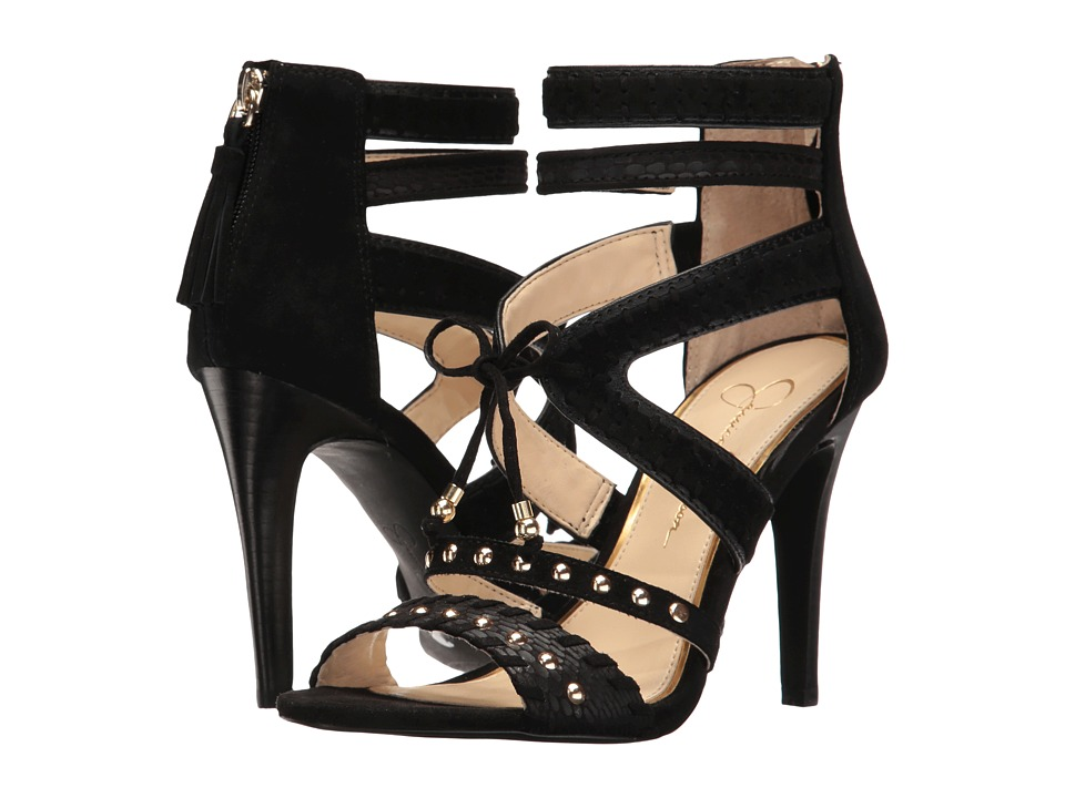 Jessica Simpson Elishia (Black Rebel Snake/Luxe Kid Suede) Women