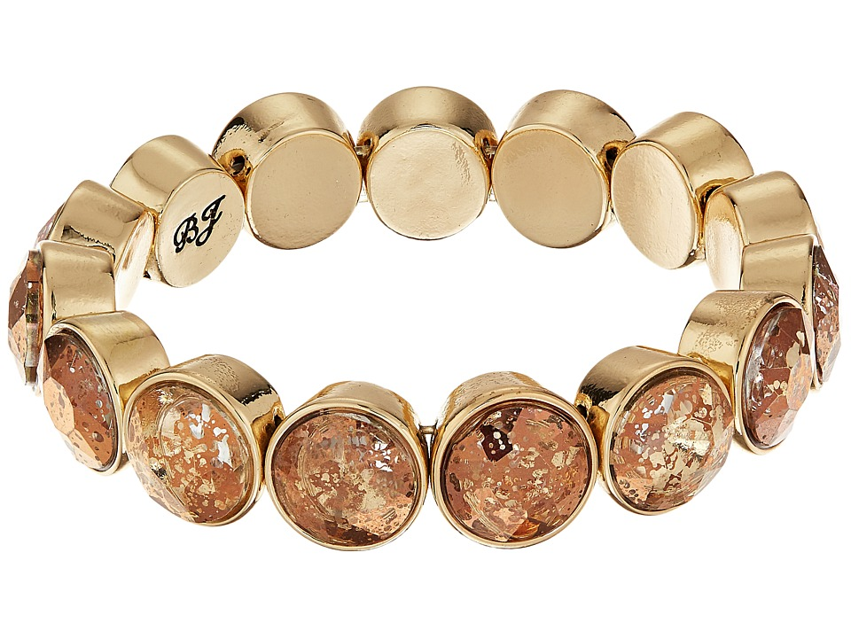 Betsey Johnson - Crystal/Gold Stretch Rivoli Bracelet (Crystal) Bracelet