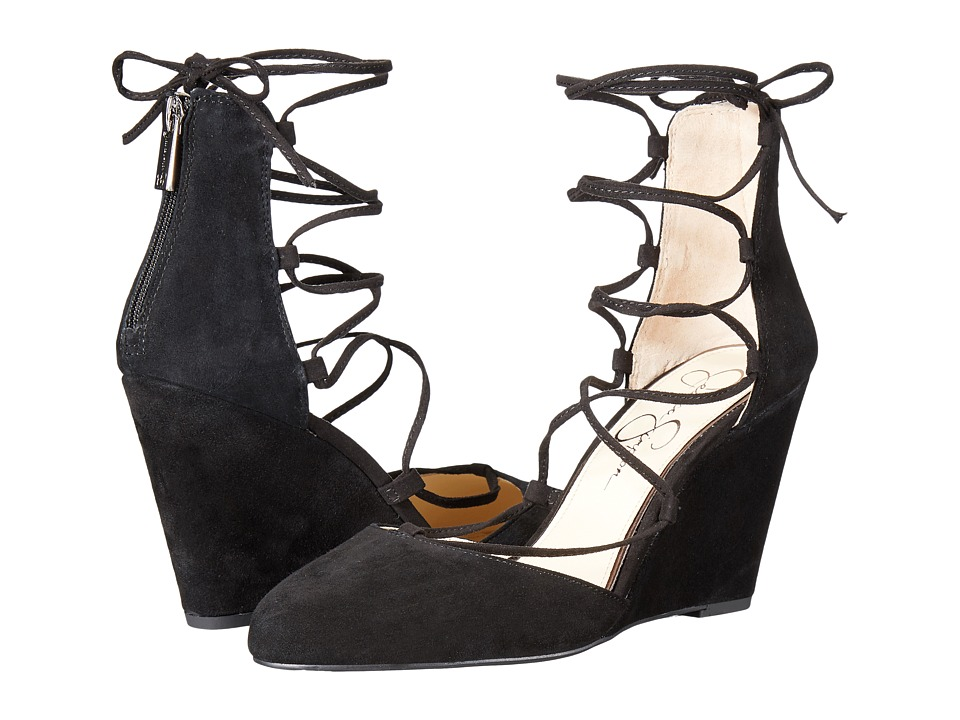 Jessica Simpson Jacee (Black Luxe Kid Suede) Women
