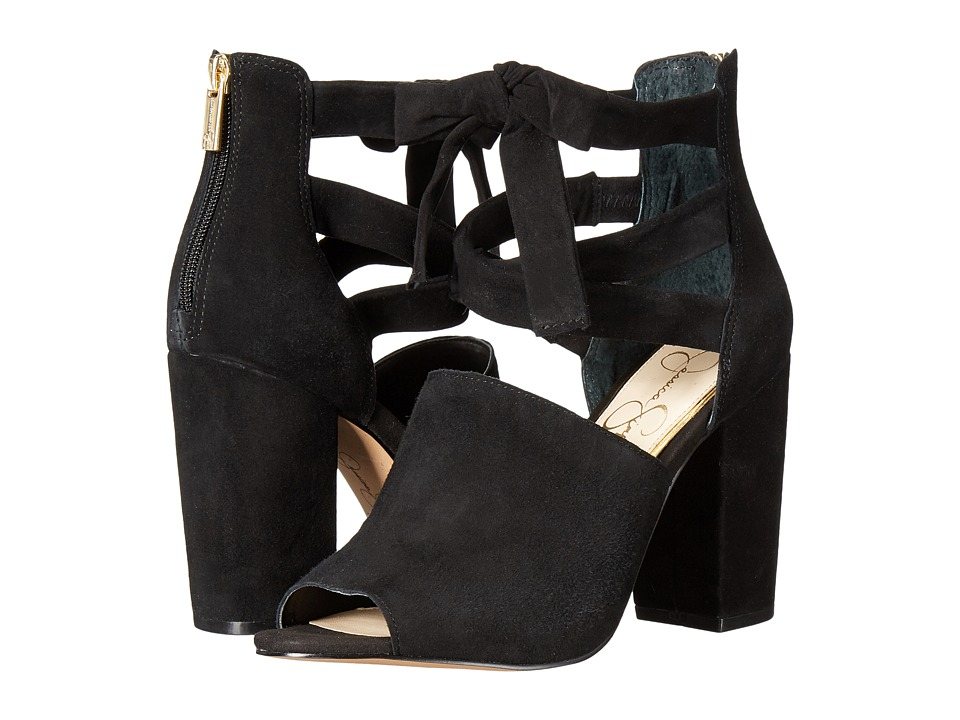 Jessica Simpson Kandiss (Black Luxe Kid Suede) Women