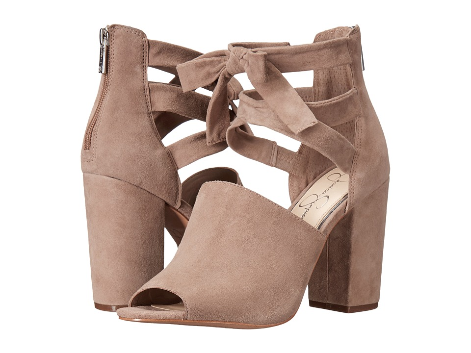 Jessica Simpson Kandiss (Warm Taupe Luxe Kid Suede) Women