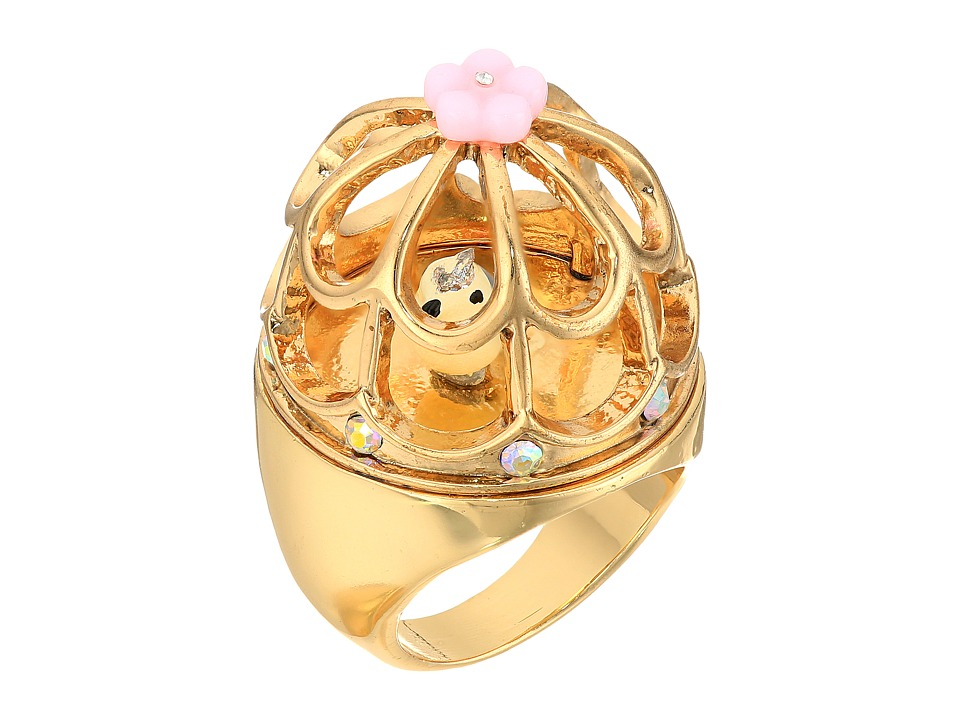 Betsey Johnson - Rose Gold Multi Bird Cage Ring (Multi) Ring