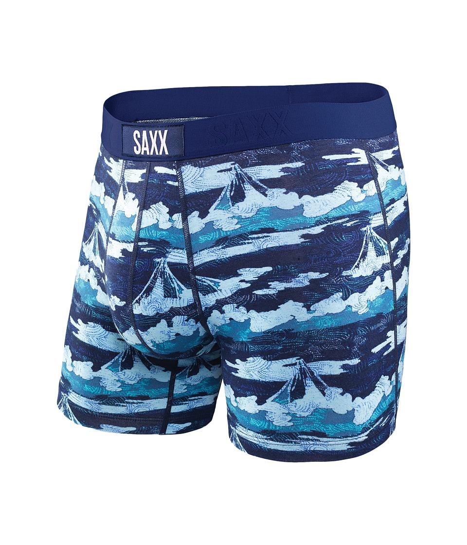 SAXX UNDERWEAR - Vibe Boxer Modern Fit (Bright Navy Mt Fuji) Men's Underwear