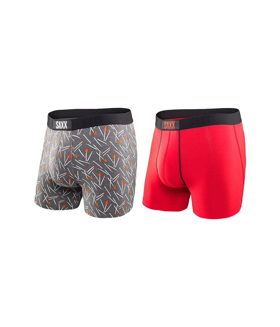 SAXX UNDERWEAR - Vibe Boxer Brief 2-Pack (Perfect Match) Men's Underwear