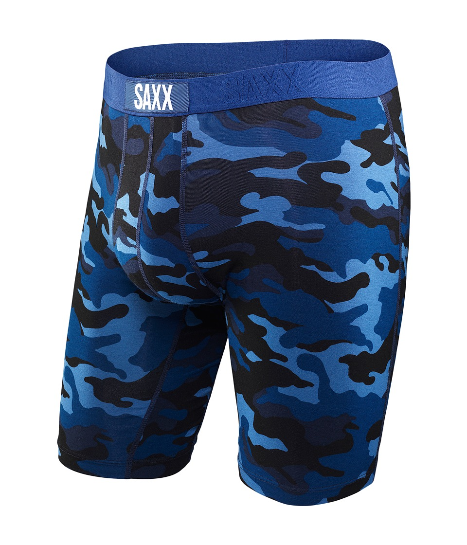 SAXX UNDERWEAR - Vibe Long Leg Modern Fit (Blue Camo) Men's Underwear