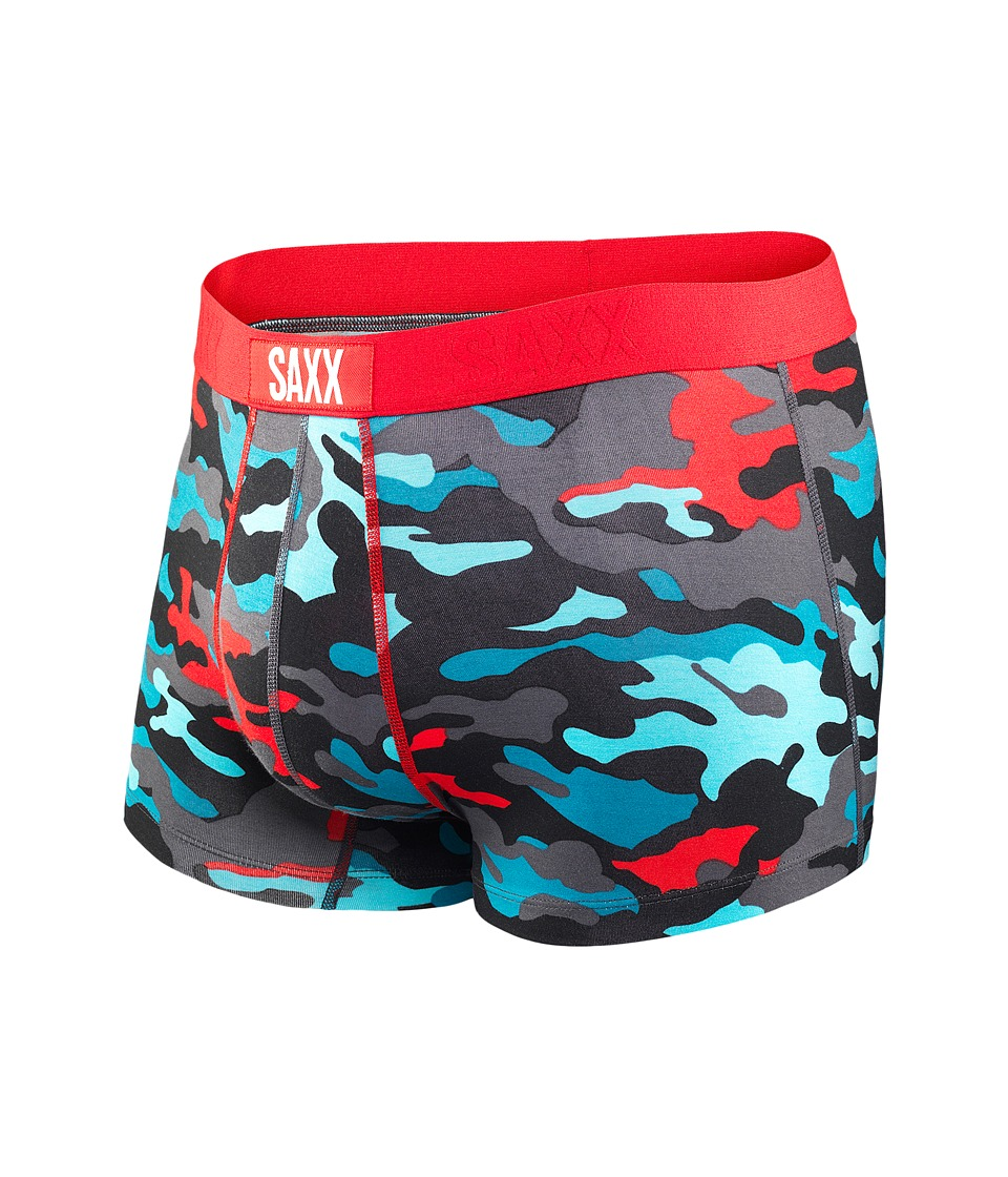SAXX UNDERWEAR - Vibe Trunk Modern Fit (Red/Bright Camo) Men's Underwear