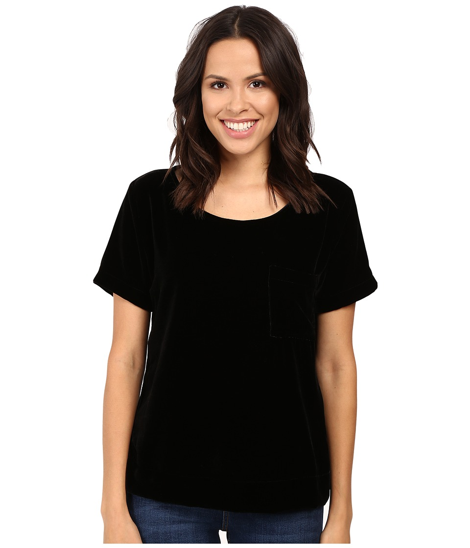 Three Dots Velvet Tee (Black) Women