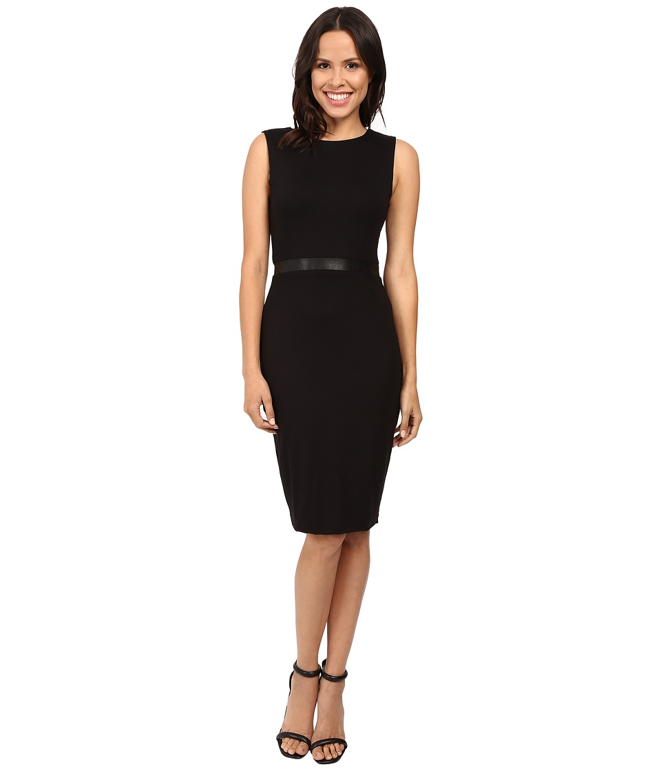 Three Dots Bodycon Double Zip Two Way Dress (Black) Women