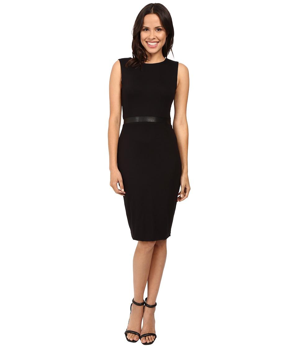 Three Dots - Bodycon Double Zip Two Way Dress (Black) Women's Dress
