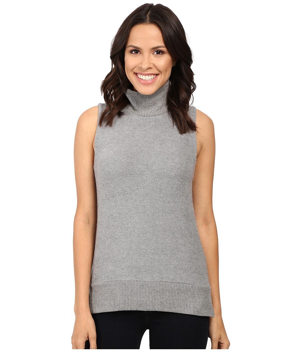 Three Dots High-Low Sleeveless Sweater (Granite) Women