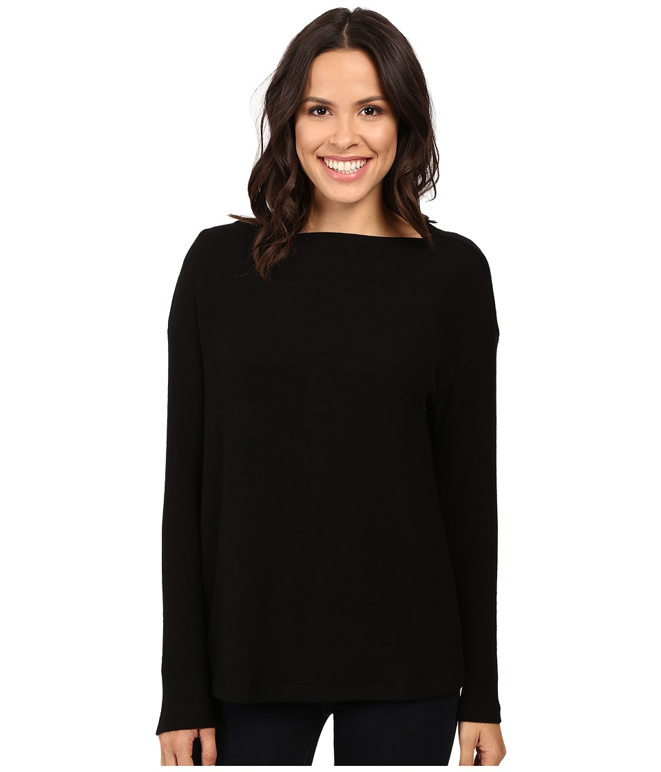 Three Dots - Long Sleeve Sweater (Black) Women's Sweater