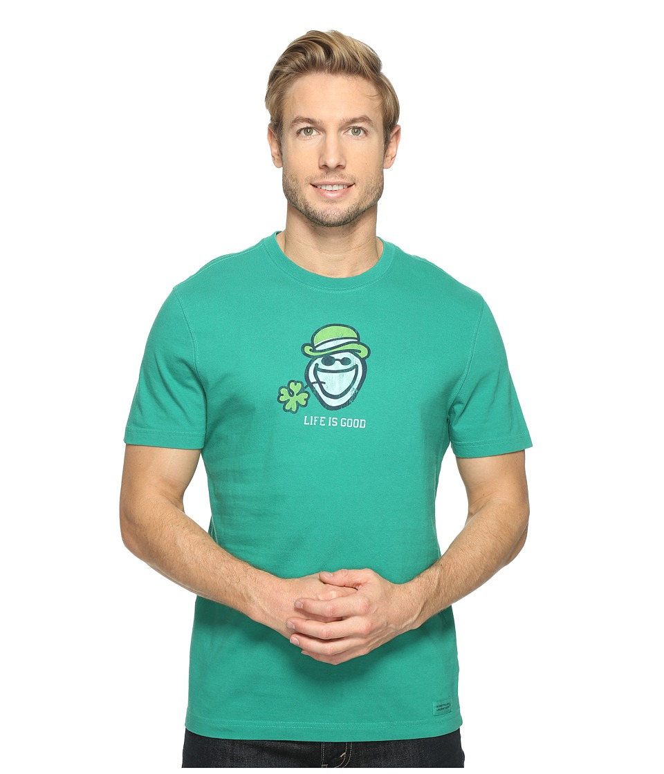 Life is good - Jake Shamrock Crusher Tee (Jungle Green) Men's T Shirt