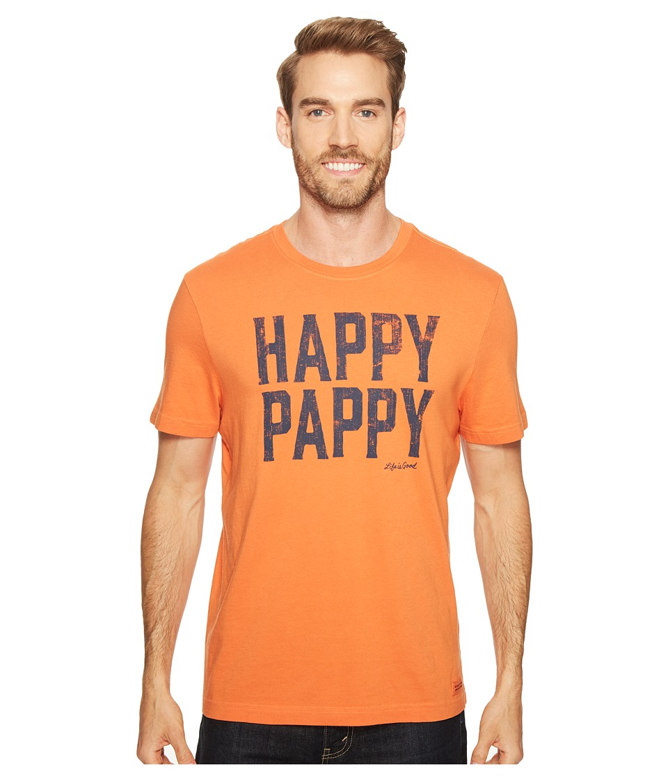 Life is good - Happy Pappy Crusher Tee (Deep Orange) Men's T Shirt