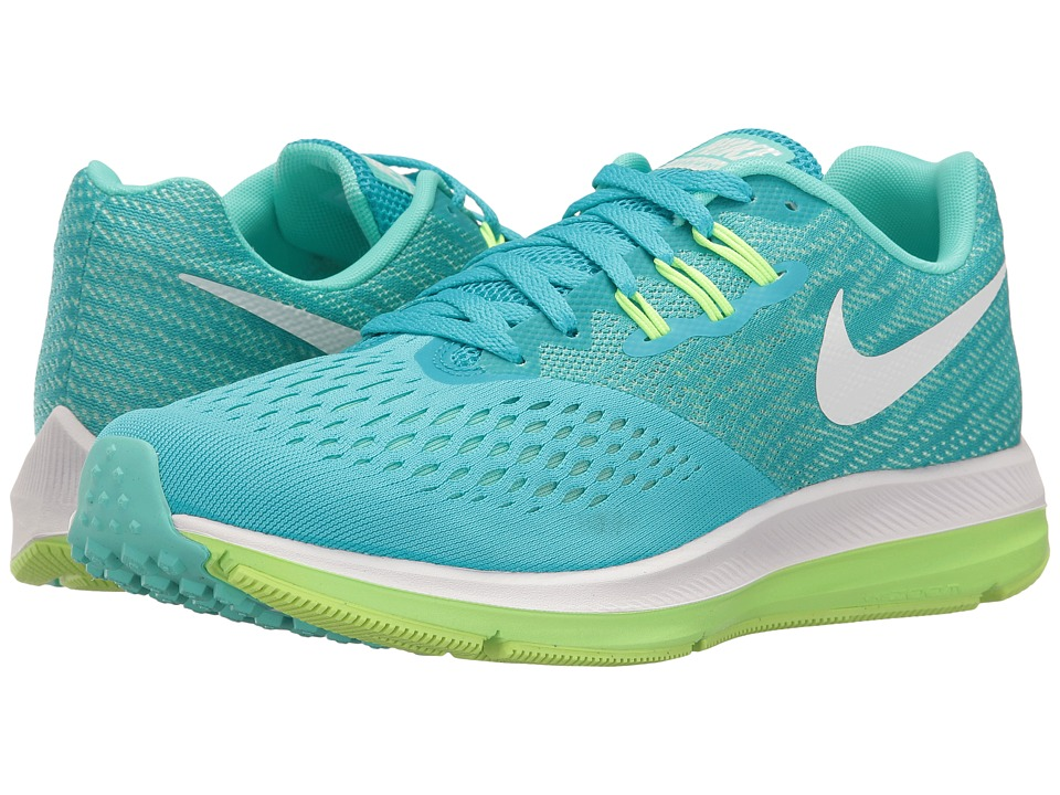 Nike - Air Zoom Winflo 4 (Chlorine Blue/White/Hyper Turquoise) Women's Running Shoes