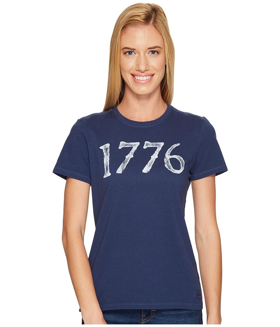 Life is Good Patriotic 1776 Crusher Tee (Darkest Blue) Women