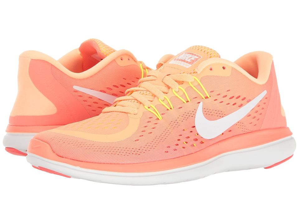 Nike - Flex RN 2017 (Sunset Glow/White/Bright Mango/Volt) Women's Running Shoes